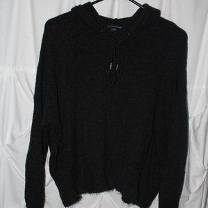 American Eagle Cashmere Distressed Hoodie